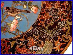 11 7/8 Japanese Meiji Period Wire Cloisonne Plate