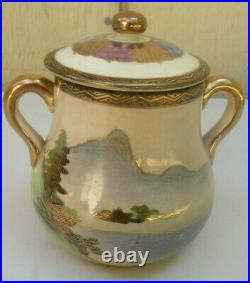 16 Piece Antique Japanese Satsuma Shimazu Clan Meiji Period Tea Set