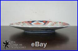 2 Antique Meiji Period Japanese Imari Porcelain Charger Flower Vase Plate 13