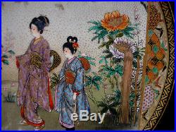 6 1/4 MARKED Midorizan JAPANESE MEIJI PERIOD SATSUMA PLATE