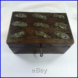 ANTIQUE JAPANESE BOX Meiji Period Samurai Menuki decoration box