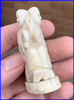 A EARLY ANTIQUE GOOD QUALITY CARVED NUT JAPANESE MEIJI PERIOD OKIMONO C1860s