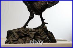 A Fine 19th Century Japanese Meiji Period Bronze Figure Rooster