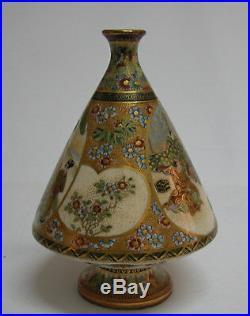 A Fine Japanese Satsuma Meiji Period Orange Signed Vase
