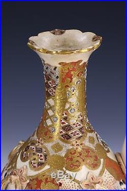 A Japanese Antique Gilt Satsuma Porcelain Teapot, Meiji Period