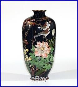 A Meiji period big and very special shape Japanese cloisonne vase 0976D