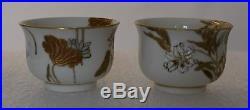 A pair of Japanese Satsuma wine cups, by Yabu Meizan, Meiji period, 19 century