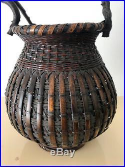 An Exceptional Japanese Bamboo Basket Ikebana from Meiji Period