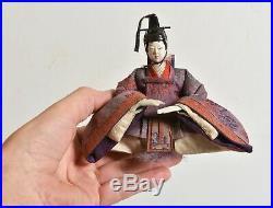 Antique 1800s Japanese Hina Dolls, Emperor & Empress, Edo-Meiji period