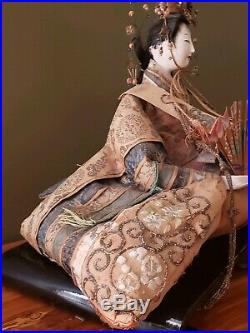 Antique 1800s LARGE Japanese Hina Doll, Empress, EARLY Meiji period