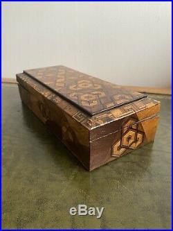 Antique 19th Century Japanese Meiji Period Parquetry Inlaid Box