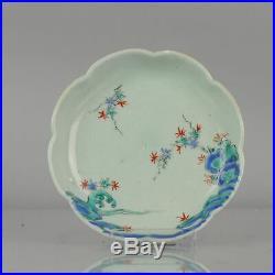 Antique 19th century Japanese Celadon Kakiemon Dishl Edo/Meiji Period Ja