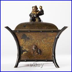 Antique Chinese Qing Dynasty Japanese Meiji Period Bronze Metal Gold Copper