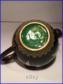 Antique Cloisonne Meiji Period JapaneseTeapot