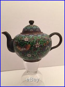Antique Cloisonne, Meiji Period, Japanese Teapot