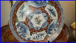 Antique Edo-Meiji period Japanese Huge Imari charger plate Early 19th century
