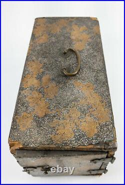Antique Fine Japanese Gold Lacquer Kodansu Incense Box Meiji Period 19th Century