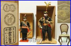 Antique Imperial Japanese Army Dolls General & Lieutenant General Meiji Period