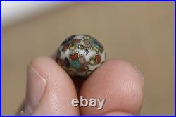 Antique Japanese 19th Century Meiji Period Cloisonne Ojime Bead for Inro B
