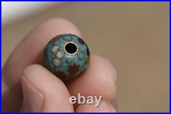 Antique Japanese 19th Century Meiji Period Cloisonne Ojime Bead for Inro C