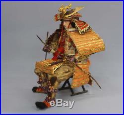 Antique Japanese Armed Samurai Doll, 3 Dolls Set Meiji Period