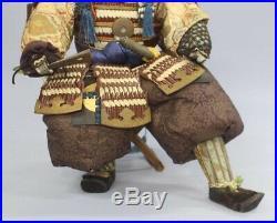 Antique Japanese Armed Samurai Kato Kiyomasa Large Gohun Doll 19 Meiji Period