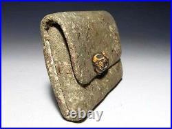 Antique Japanese Cigarette Case Signed Meiji Period Bone Decoration Netsuke K18