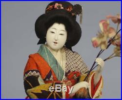 Antique Japanese Doll Kimono Young Woman Set Meiji Period