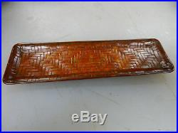 Antique Japanese Finely Woven Bronze Tray Meiji / Taisho Period, pen / Coin Dish