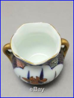 Antique Japanese Fukagawa Miniature Koi Carp Vase Signed Meiji Period