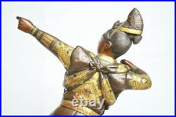 Antique Japanese Gilt Bronze Archer Figure Signed Matsumori Meiji Period