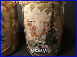 Antique Japanese Large Satsuma Vases, Meiji period