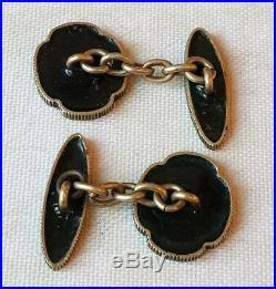 Antique Japanese Meiji Period Cloisonne Enamel Cufflinks