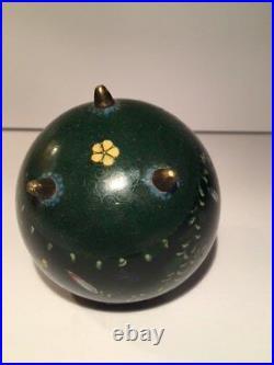 Antique Japanese Meiji Period Cloisonne Tea Caddie / Jar