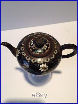 Antique Japanese Meiji Period Cloisonne Teapot