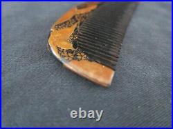 Antique Japanese Meiji Period Gold Lacquer Kanzashi comb