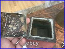 Antique Japanese Meiji Period Lacquer CENSER incense Burner Carp Koi Design