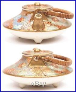 Antique Japanese Meiji Period Satsuma Miniature Teapot Asian Earthenware Pottery