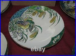 Antique Japanese Meiji Period Signed Kutani Ceramic Dishes