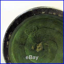Antique Japanese Meiji Period Sumida Gawa Pottery Elephants Design Vase Signed