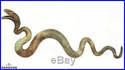 Antique Japanese Meiji / Taisho Period Lifesize Bronze Snake / Serpent 18