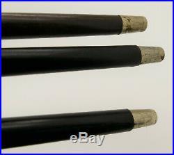 Antique Japanese Netsuke Walking Sticks Set of 3 Edo or Meiji Period 19thC