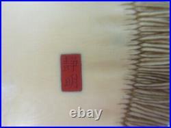 Antique Japanese Okimono Meiji Period Circa 1900-1910, Red Seal As Is