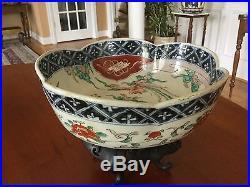Antique Japanese Porcelain Imari Scalloped Edge Bowl Meiji Period