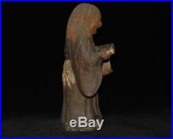 Antique Japanese Potter's Statue Okimono Ornament Meiji Taisho Period 24.5cm