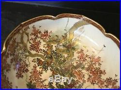 Antique Japanese Satsuma Bowl, Meiji period. Signed