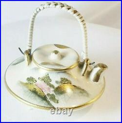Antique Japanese Satsuma Meiji Period Koshida Marked Minature Teapot