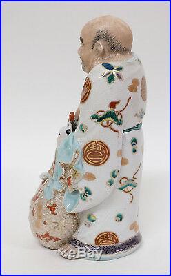Antique Japanese Ware Porcelain Kutani or Satsuma Figure Meiji Period Buddha