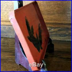 Antique Japanese Wooden Makie Carp Tray Late Edo Meiji Period Rare Japan