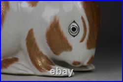 Antique Japanese c1900 Meiji Period Kutani Bunny Rabbit Large